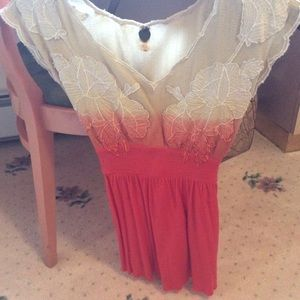 Gorgeous cotton and knit top free people